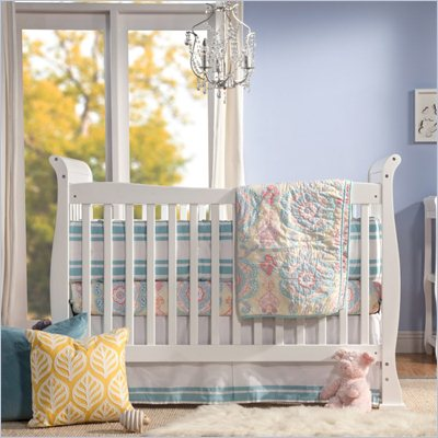 Da Vinci Reagan 4-in-1 Convertible Wood Crib w/ Toddler Rail in White