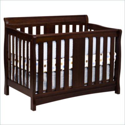 DaVinci Rowan 4-in-1 Convertible Crib in Espresso Including Toddler Rails