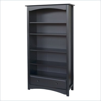 DaVinci Roxanne 5 Shelf Wood Bookcase in Ebony