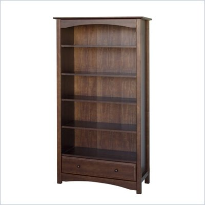 DaVinci Roxanne 5 Shelf Wood Bookcase in Espresso