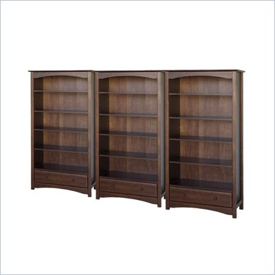 DaVinci Roxanne 5 Shelf Wall Bookcase in Espresso