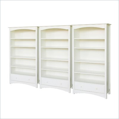 DaVinci Roxanne 5 Shelf Wall Bookcase in White