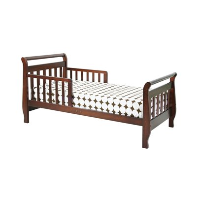 DaVinci Wood Sleigh Toddler Bed in Cherry