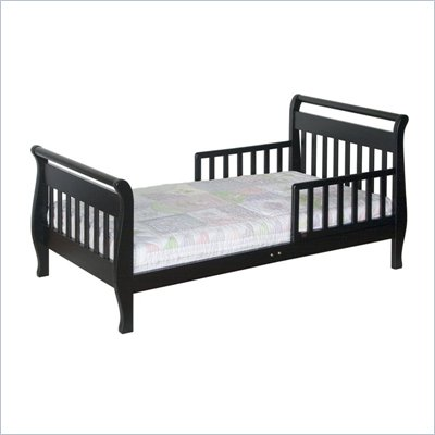 DaVinci Wood Sleigh Toddler Bed in Ebony
