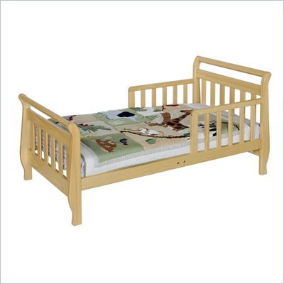 DaVinci Wood Sleigh Toddler Bedb in Natural
