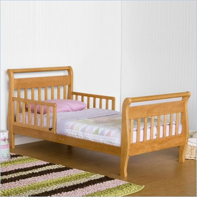 DaVinci Wood Sleigh Toddler Bed in Oak
