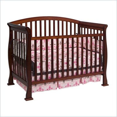 Da Vinci Thompson 4-in-1 Convertible Wood Crib w/ Toddler Rail in Cherry