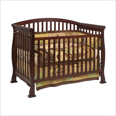 Da Vinci Thompson 4-in-1 Convertible Wood Crib w/ Toddler Rail in Coffee