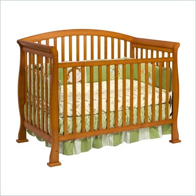 Da Vinci Thompson 4-in-1 Convertible Wood Crib w/ Toddler Rail in Oak