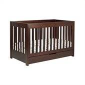 Babyletto Mercer 3 in 1 Convertible Wood Crib in Espresso