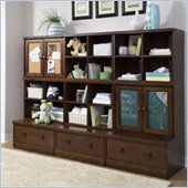 Babyletto Wooden 9 Piece Storage Cabinet Set in Espresso