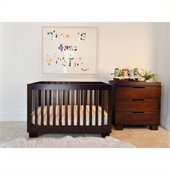 Babyletto Modo 3-in-1 Convertible Wood Crib Set in Espresso