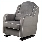 Babyletto Nara Glider in Slate with Ecru