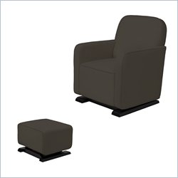 Babyletto Kyoto Glider and Ottoman in Slate