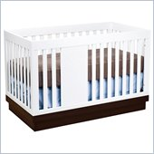Babyletto Harlow 3-in-1 Convertible Baby Crib in Two-tone White and Espresso