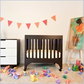 Babyletto Grayson Mini Crib with Pad in Espresso