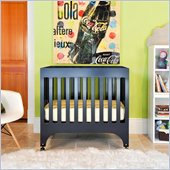 Babyletto Grayson Mini Crib with Pad in Navy