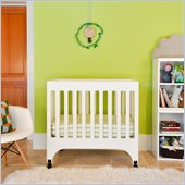 Babyletto Grayson Mini Crib with Pad in White