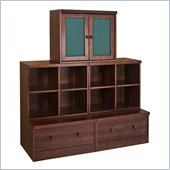 Babyletto 5-Piece Cubbies, Cupboard, and Drawer Combo in Espresso