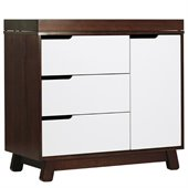 Babyletto Hudson Changer Dresser in Two-Tone Espresso and White