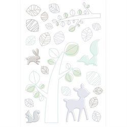 Babyletto Tranquil Woods Wall Decal in Multi-Color