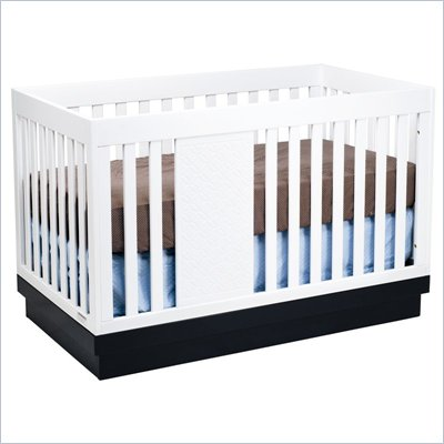 Babyletto Harlow 3-in-1 Convertible Baby Crib in Two-tone White and Navy