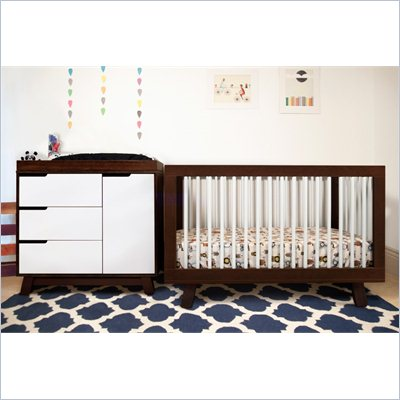 Babyletto Hudson 3-in-1 Convertible Crib in Two-Tone Espresso &amp; White