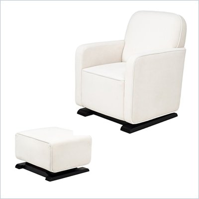 Babyletto Kyoto Glider and Ottoman in Ecru