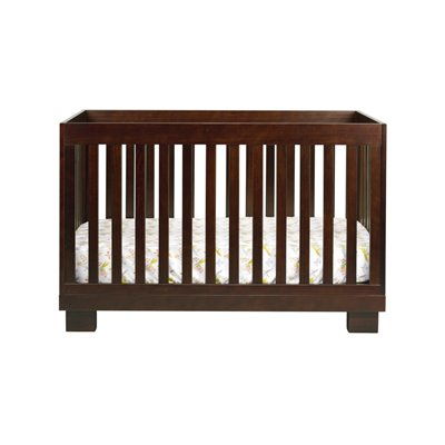 Babyletto Modo 3 in 1 Convertible Wood Crib with Toddler Rail in Espresso