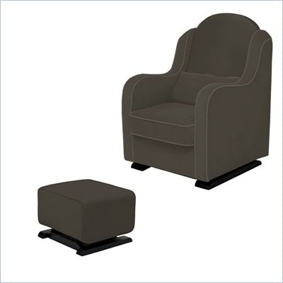 Babyletto Nara Glider and Kyoto Ottoman in Slate