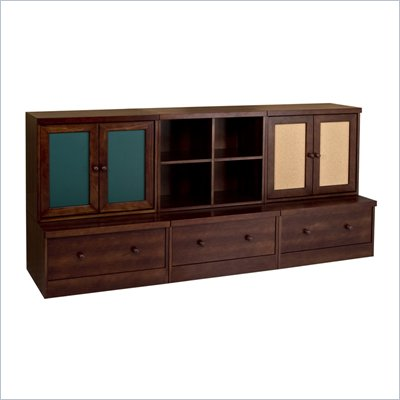 Babyletto 6-Piece Cupboard, Cubbies and Drawer Combo in Espresso