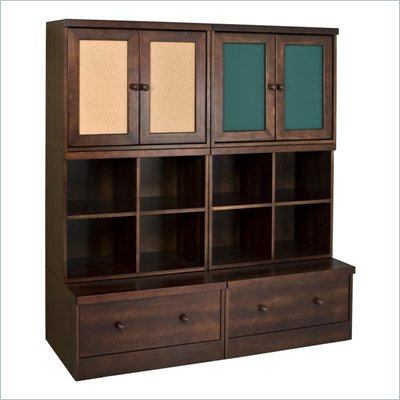 Babyletto 6-Piece Storage Cupboard, Cubbies and Drawer in Espresso