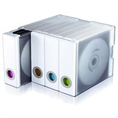Atlantic Inc Parade Disc Holder Categorize 96 CDs or DVDs In Color Coded White Binder