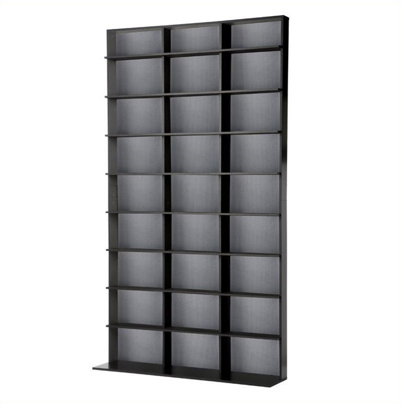 "Atlantic Inc 72"""""""" Large Media Rack in Black"