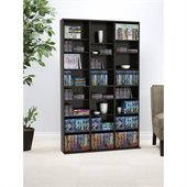 Atlantic Inc Oskar Media Cabinet in Espresso