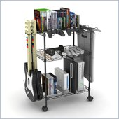 Atlantic Inc Three Tier Game Cart In Black