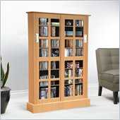 Atlantic Inc Windowpane Cabinet With Sliding Glass Doors In Maple 