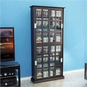 Atlantic Inc Windowpane Media Cabinet in Espresso