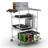 Atlantic Inc Gamekeeper 4 Tier Wire Gaming Tower in Silver