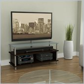 Atlantic Inc Myst 2 in 1 TV Stand In Espresso With Frosted Glass Top