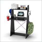 Atlantic Inc Ladder Desk In Black With Purple Edging