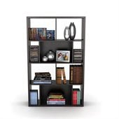 Atlantic Inc Monaco Book / Display Case In Espresso