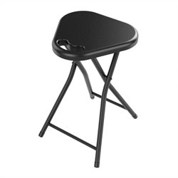 Atlantic Inc Folding Stool with Handle in Black (Set of 4)