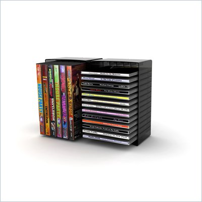 Atlantic Inc Disc Storage Module 12 DVD in Black