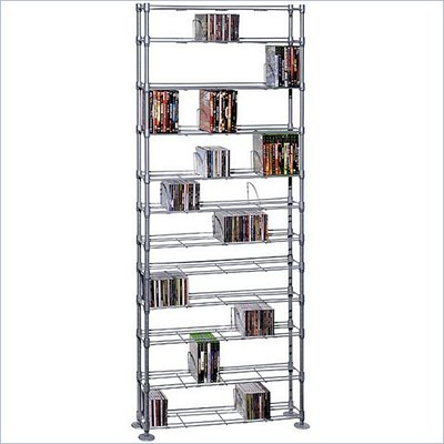 Atlantic Inc Max Steel 12 Tier Media Rack - 864 CD 450 DVD