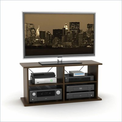 Atlantic Inc Duo TV and Audio Stand In Mocha