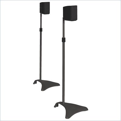 Atlantic Inc Satellite Speaker Stands Adjustable Height In Titanium