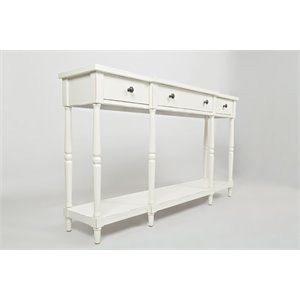 Jofran Stately Home Console Table in White