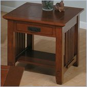 Jofran 036 Series Wood End Table in Brown Mission Oak