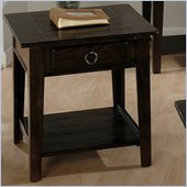 Jofran 081 Series Wood End Table in Heirloom Oak